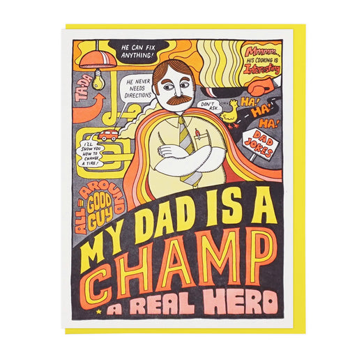 Dad's a Champ Card