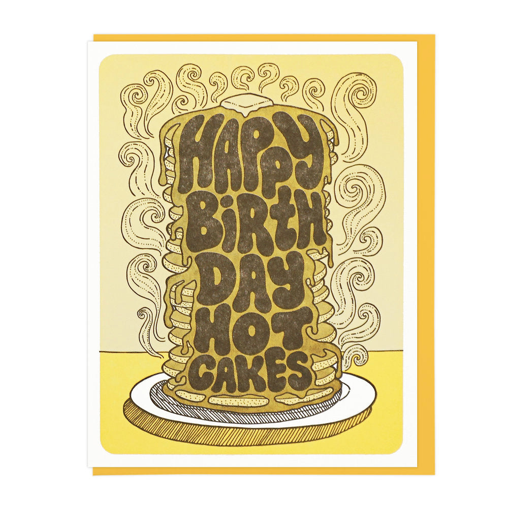 Hot Cakes Pancake Birthday Card