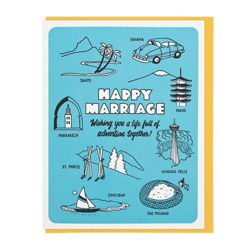 Happy Marriage Adventures Card