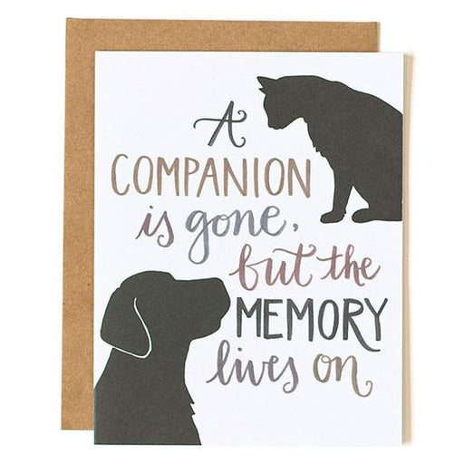 A Companion is Gone but the memory lives on Pet Sympathy Card