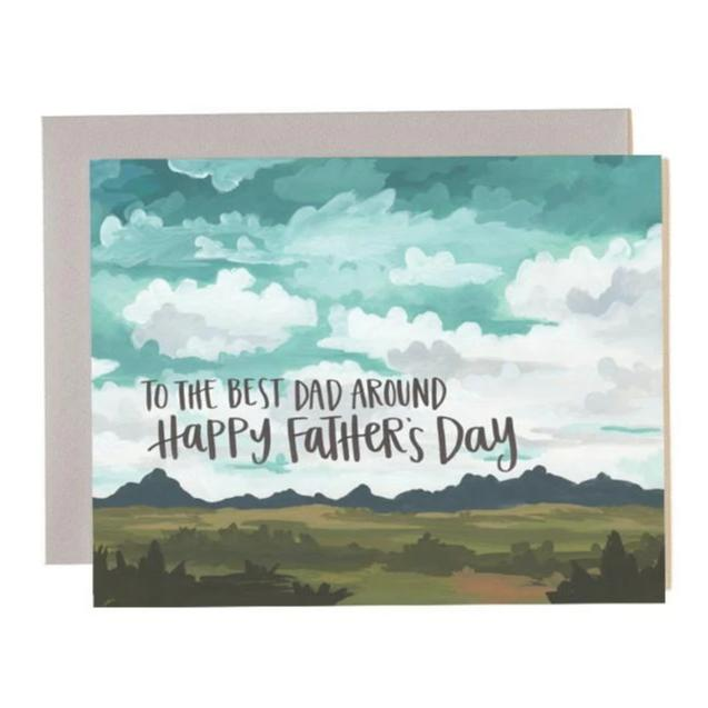 To the Best Dad Around Happy Father's Day Landscape Card