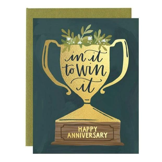 In it to Win it Anniversary Trophy Card