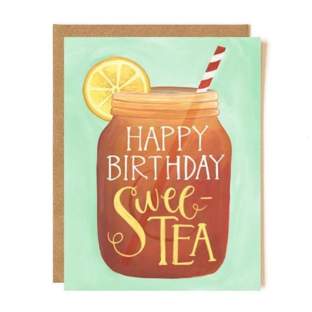 Happy Birthday Swee-Tea mason jar card