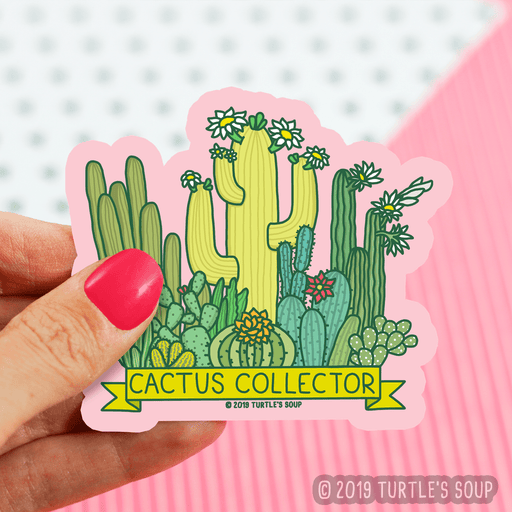 Cactus Collector Vinyl Sticker
