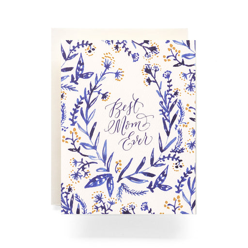 Cobalt Best Mom Ever floral Card