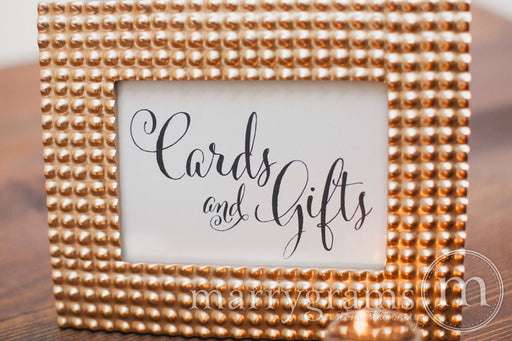 Cards and Gifts Wedding Reception Sign Whimsical Style