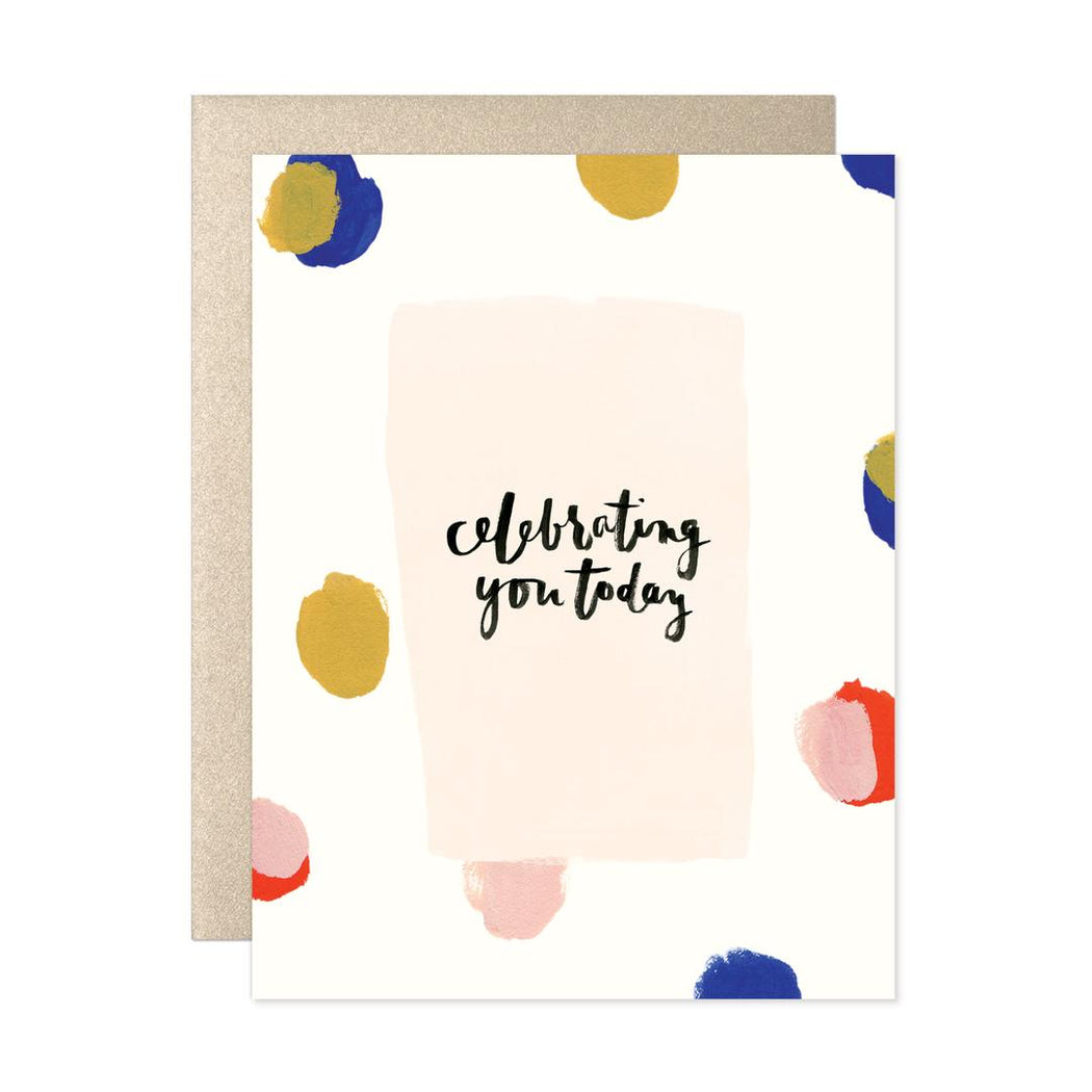 Celebrating You Today Dots Card