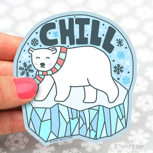 Chill Polar Bear Sticker