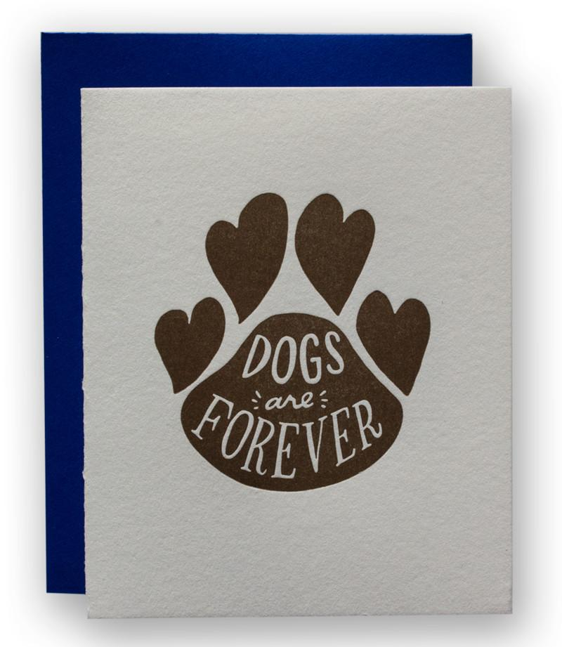Dogs Are Forever Pet Sympathy Card