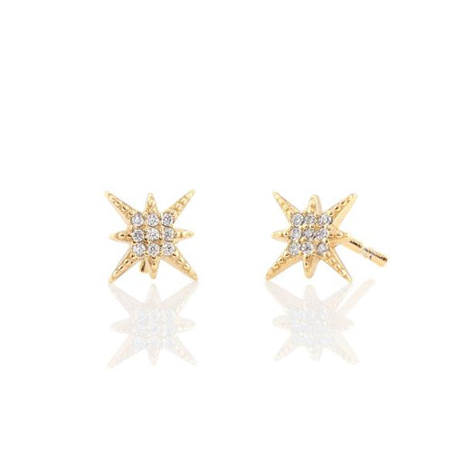 Starburst Pave Stud Earrings