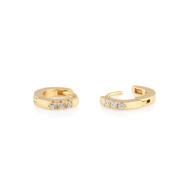Pave Tiny Hoop Earrings