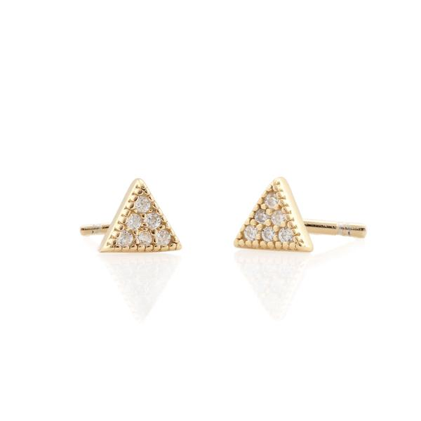 Triangle Pave Stud Earrings