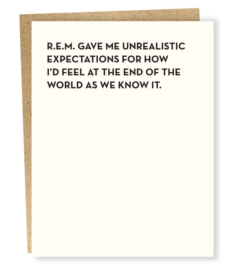 SP #898: REM Unrealistic World Expectations Card