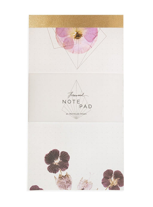 Violet Glow Dot Grid Notepad