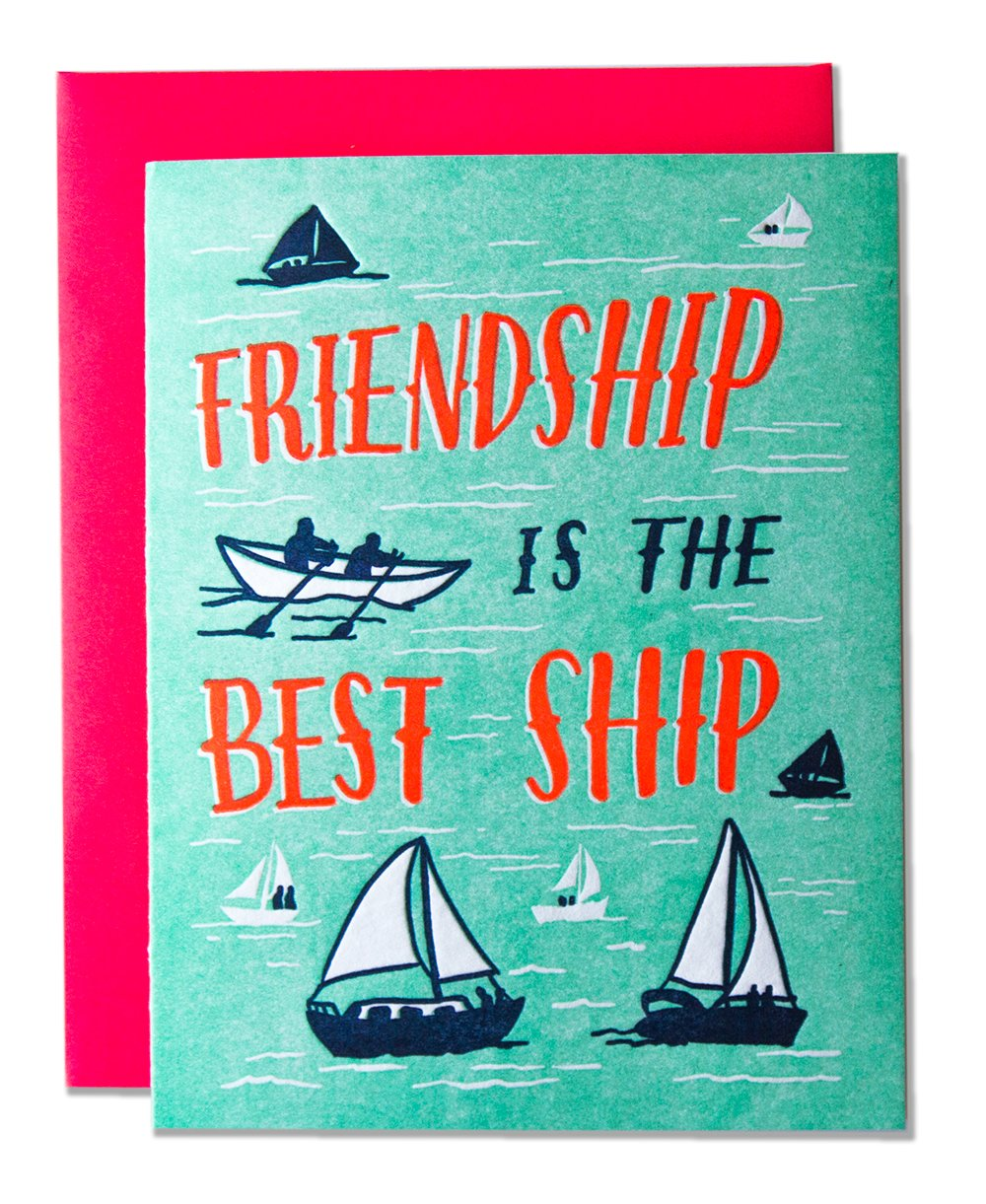 Friendship is the Best Ship Card