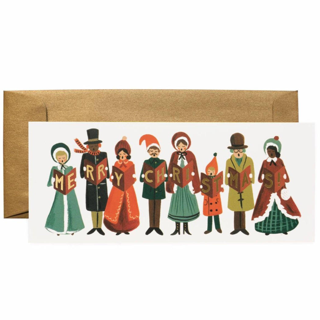 Merry Christmas Carolers Card