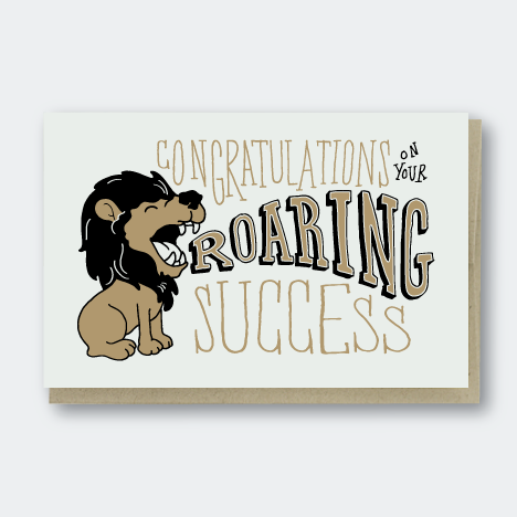 Roaring Success Congratulations Card