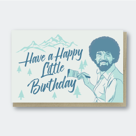 Happy Little Birthday Trees Card