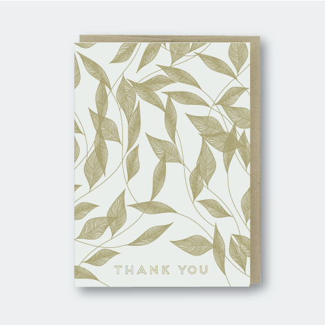 Vine Leaves Thank You Card