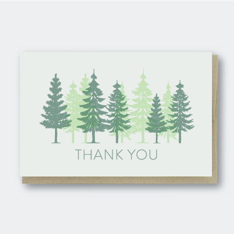 Pine Trees Thank You Card