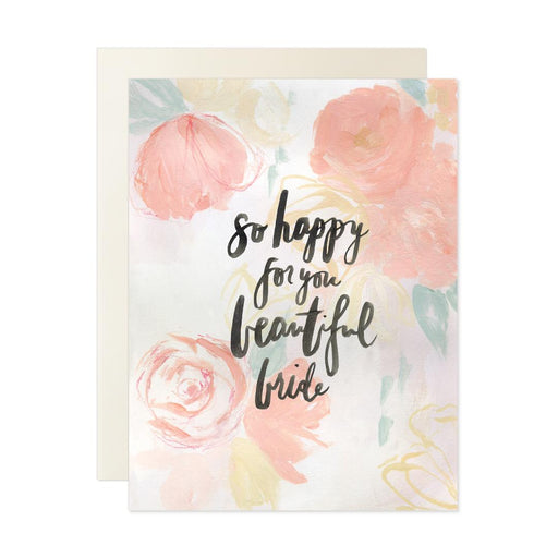 Happy for You Beautiful Bride Card