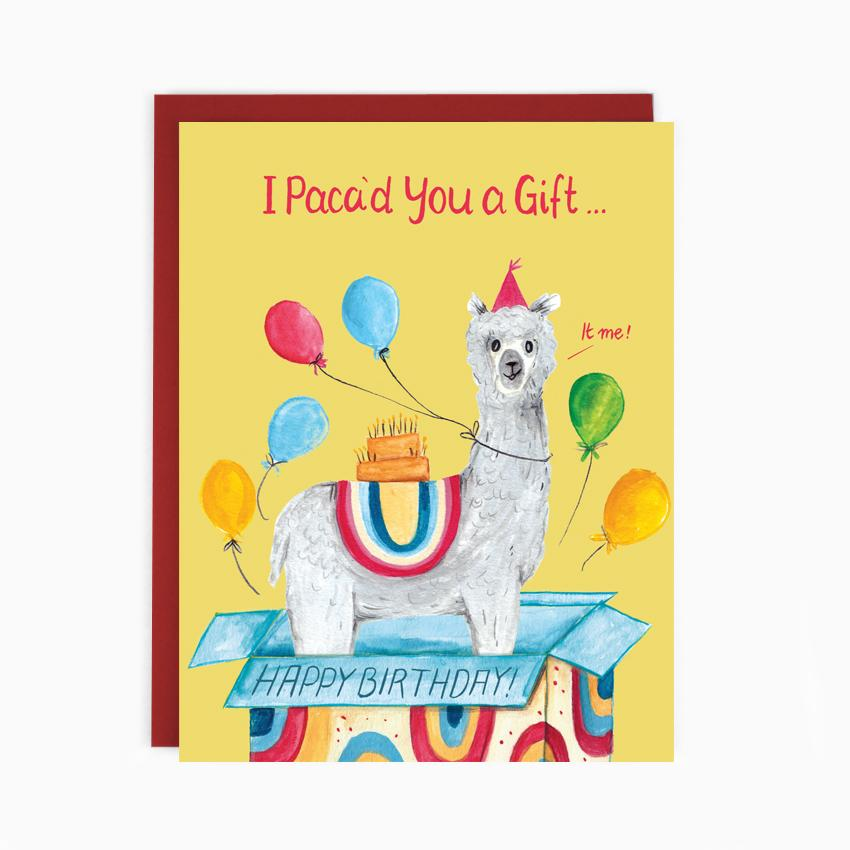 Birthday Alpaca'd Gift Card