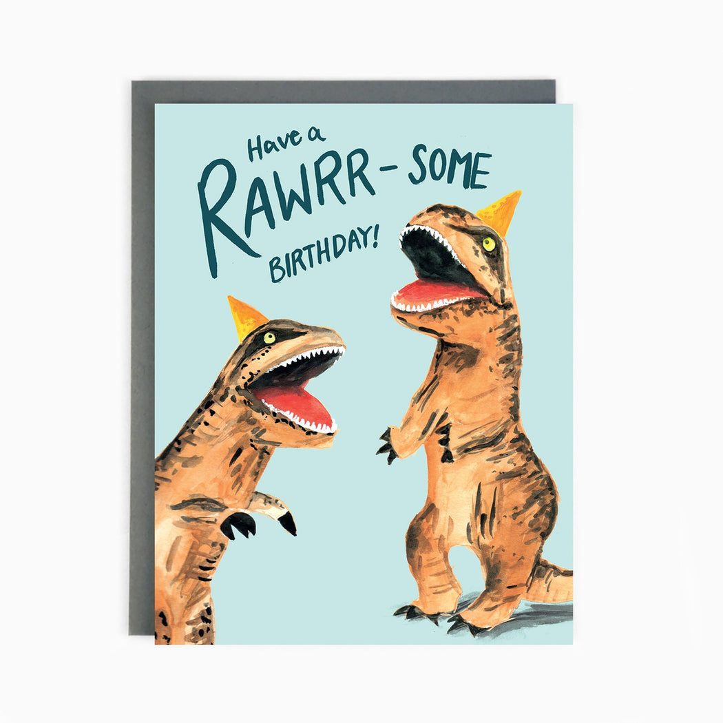 Dinosaur Rawrrsome Birthday Card