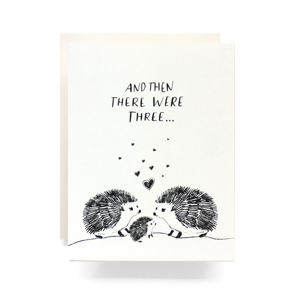 Baby Hedgehog Then There Were Three Card