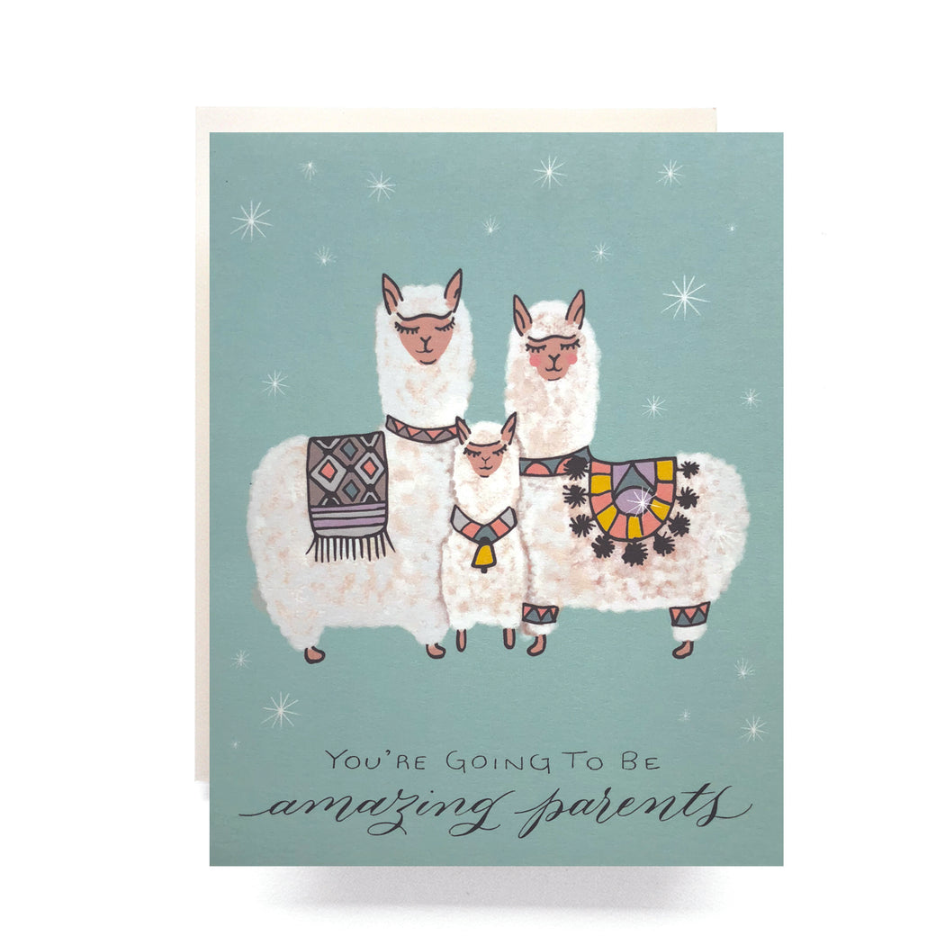 Alpaca Baby Amazing Parents Card