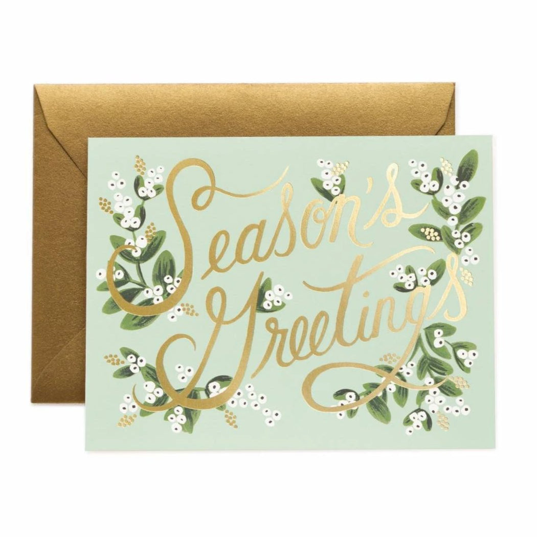 Mistletoe Season's Greetings Boxed Card Set