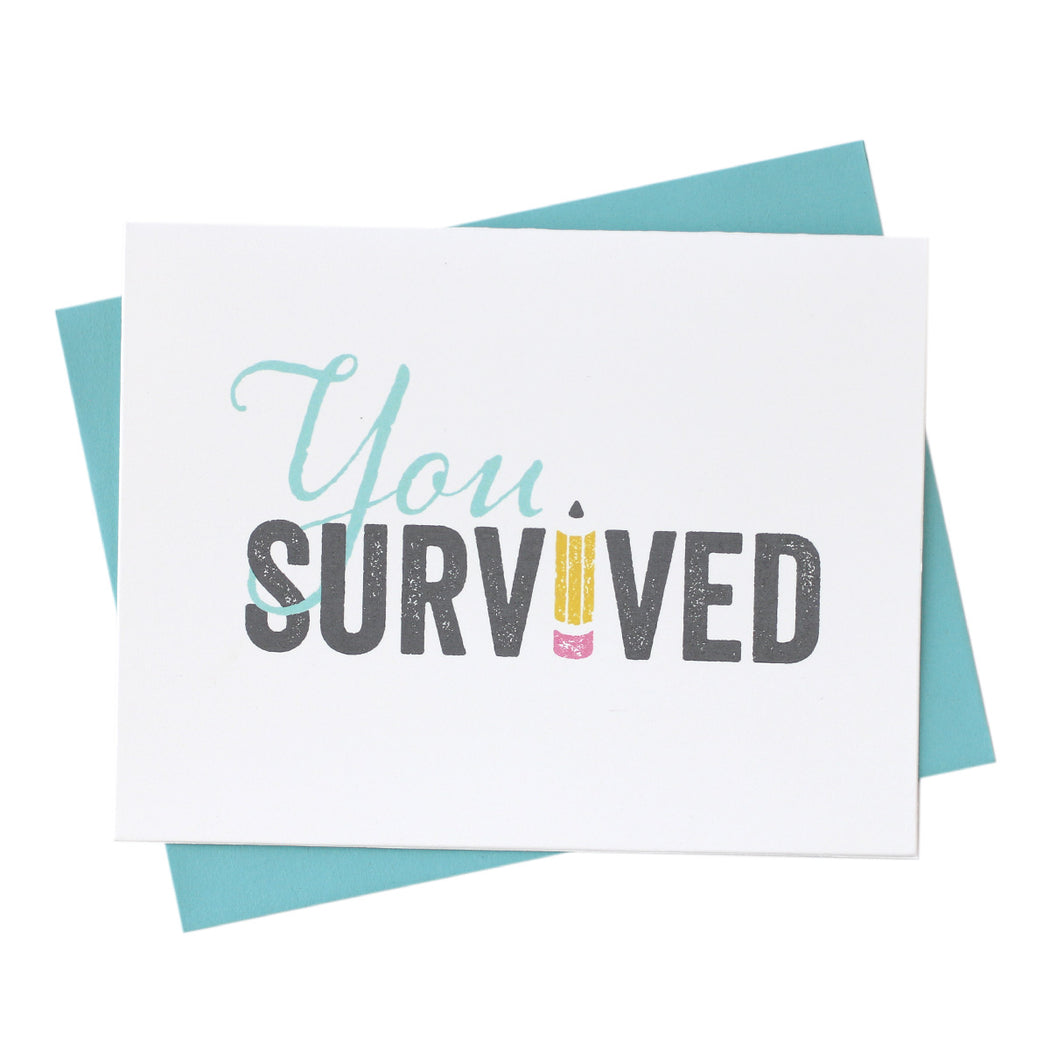you survived! happy graduation grad gift card