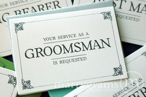 Your Service Is Requested Be My Groomsman Note Card