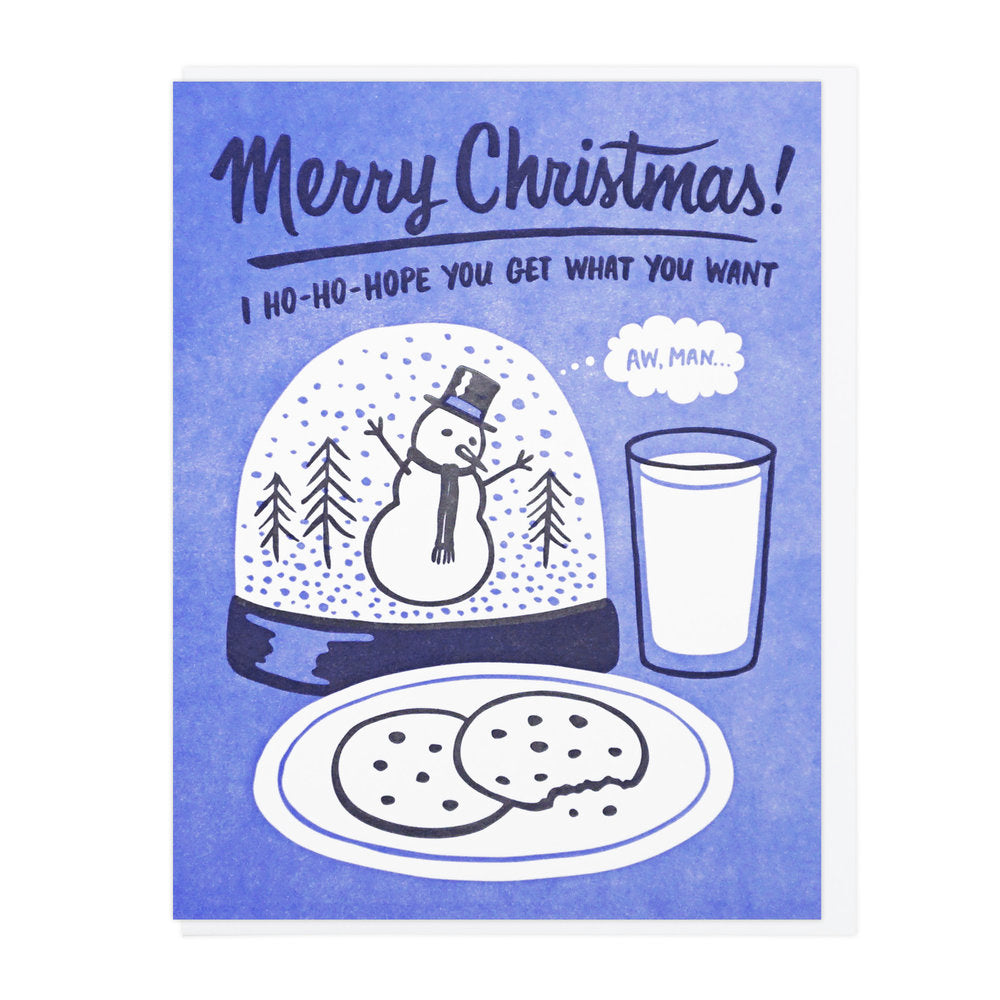 Merry Christmas Snowglobe Card