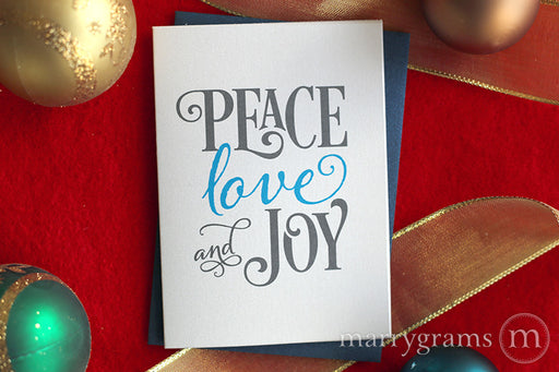 Peace, Love and Joy Holiday Card