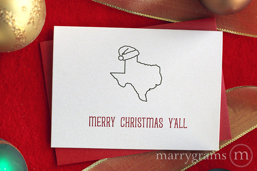 Texas Merry Christmas Y'all Card