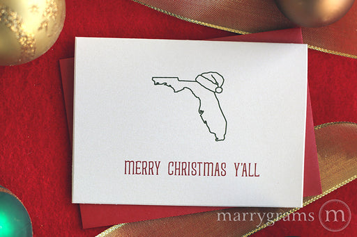 Florida Merry Christmas Y'all Card