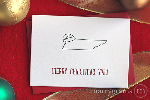 Tennessee Merry Christmas Y'all Card