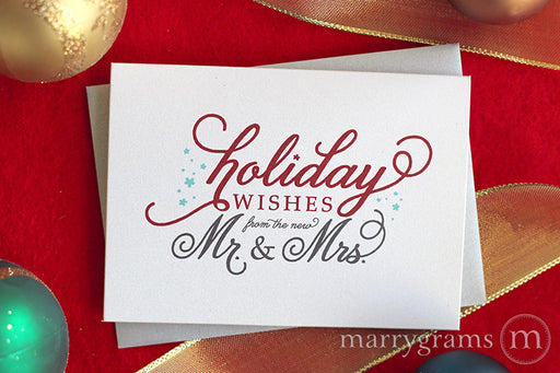 Holiday Wishes from the New Mr. & Mrs. Card