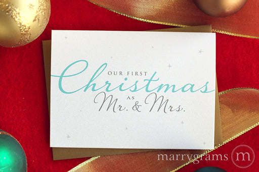 Our First Christmas as Mr. & Mrs. Card