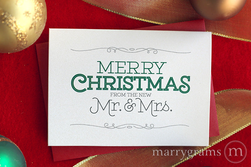 Christmas Card Merry Christmas From The New Mr Mrs Marrygrams