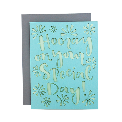 Hooray Special Day Laser Cut Card