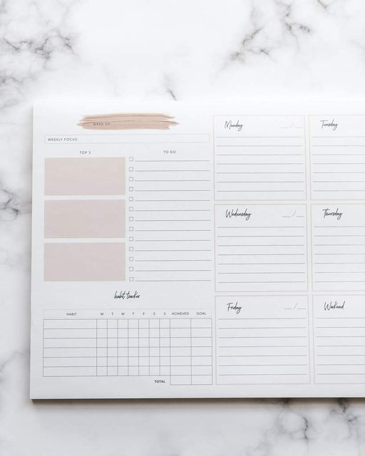 Embark Weekly Planning Notepad