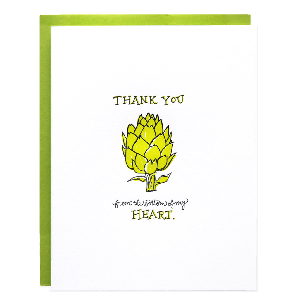 Thank You Artichoke Heart Card