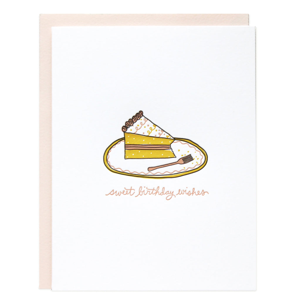Nibbled Cake Sweet Birthday Wishes Card