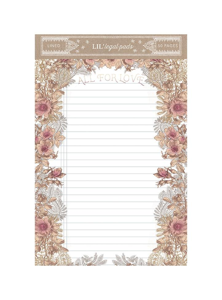 All for Love Little Legal Notepad