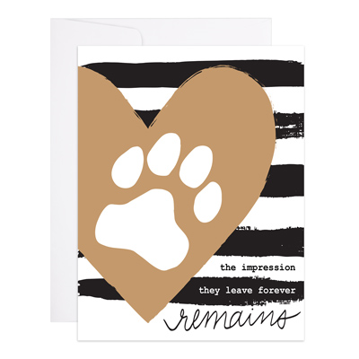 Impression They Leave Remains Pet Sympathy Card