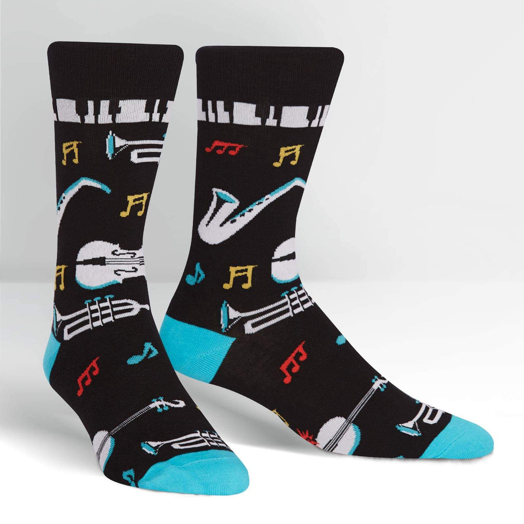 All that Jazz Men's Crew Socks