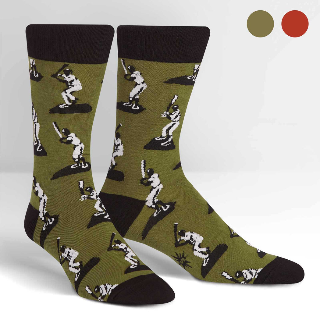 Batter Up Men's Crew Socks