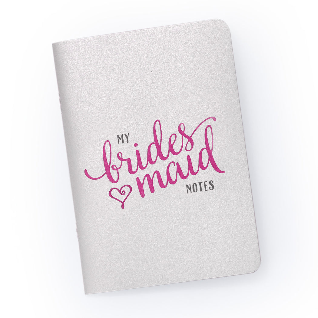 My Bridesmaid Notes - Pocket Planning Notebook for Bridal Party