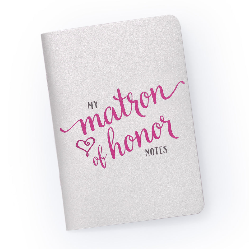 My Matron of Honor Notes - Pocket Planning Notebook for Bridal Party